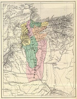 Carabobo Province - Carabobo Province in 1840. Map by Agostino Codazzi.