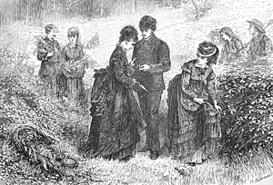 "Pteridomania - ""Gathering Ferns"" (Helen Allingham) from The Illustrated London News, July 1871."