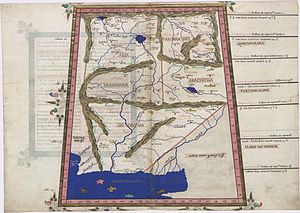 Aria (region) - Reconstruction of Ptolemy's map (2nd century AD) of Aria and neighbouring states by the 15th century German cartographer Nicolaus Germanus