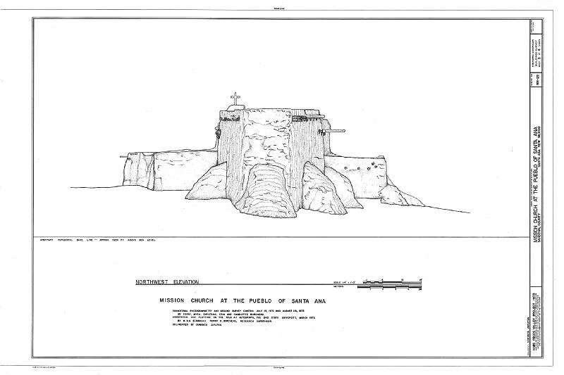 File:Pueblo of Santa Ana Mission Church, Jemez River vicinity, Santa Ana Pueblo, Sandoval County, NM HABS NM,22-SANAP,2- (sheet 3 of 4).tif