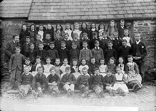 Pupils, Llanybydder school