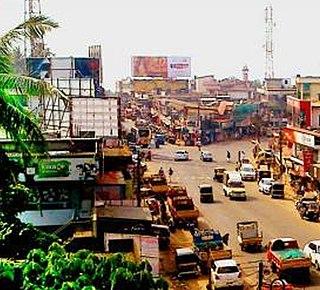 Puthanathani Town in Kerala, India