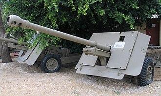 Ordnance QF 17-pounder - 17-pounder in Batey ha-Osef museum, Israel