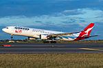 Qantas Airbus A330-303 taking off at Sydney.jpg
