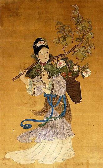 Magu (deity) - Magu, Goddess of Longevity, 18th century hanging scroll (National Museum, Warsaw)