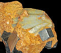 Quartz var. prase, pyrite 1.jpg