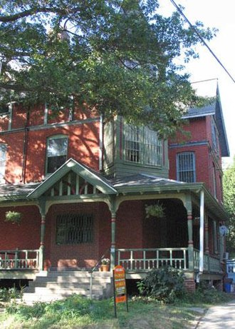 West Philadelphia - A common style of Queen Anne house with a wrap-around porch.
