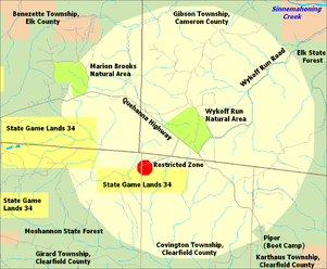 Quehanna Wild Area - Wikipedia on state parks map, state forest land map, fishing map, blue marsh lake map,