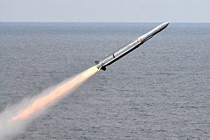 RIM-162 ESSM - Image: RIM 162 launched from USS Carl Vinson (CVN 70) July 2010
