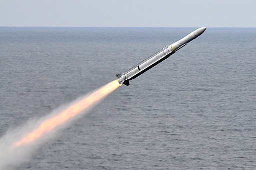 RIM-162 launched from USS Carl Vinson (CVN-70) July 2010
