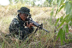 Military education and training - Filipino soldiers during a training exercise