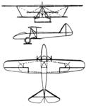 Raab-Katzenstein RK 7 3-view Le Document aéronautique September,1927.png