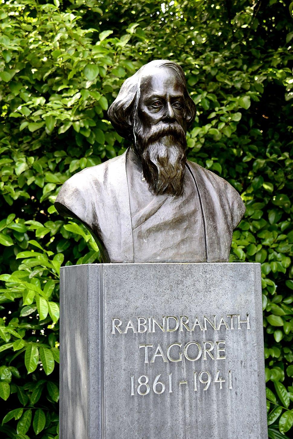 Rabindranath Tagore's bust at St Stephen Green Park, Dublin, Ireland