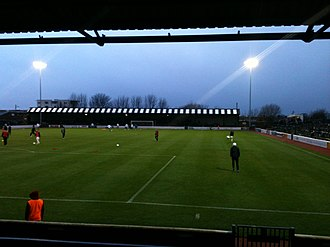 Somerset Park - The Railway End in January 2013.