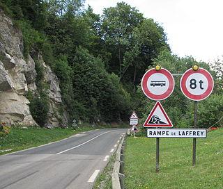 Rampe de Laffrey section of Frances Route nationale 85
