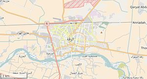 Raqqa - Raqqa city map