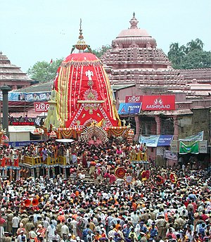 Ratha - The Rath Jatra in the Grand Avenue at the Jagannath Temple, Puri, 2007