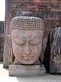 Colossal Buddha head in Ratnagiri