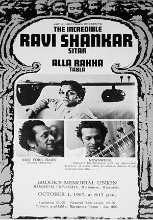 Ravi Shankar - Concert flier, 1967