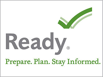Homeland Security Act - Full Ready.gov logo with tagline and trademark notice.