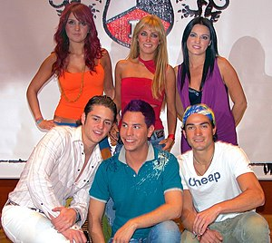 Dulce María - Dulce Maria as RBD band member in a press conference in Brazil.