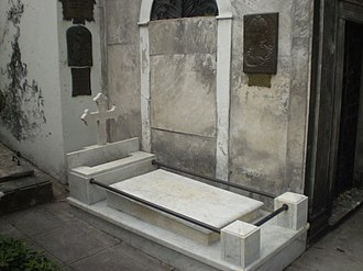 María de los Remedios de Escalada - Recoleta tomb of Sñra. San Martín