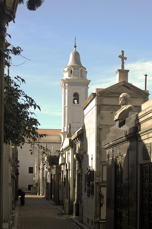Recoleta Cemetery - The church of Our Lady of Pilar tower