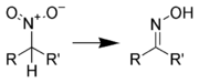 Generalization of the reduction of a nitroalkane to an oxime