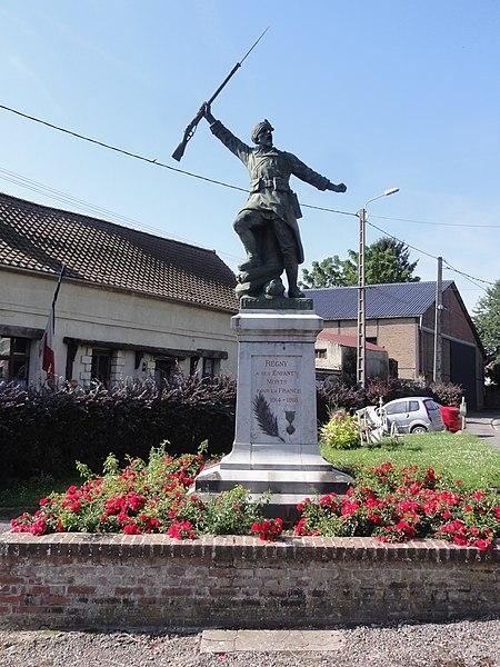 Regny (Aisne) monument aux morts