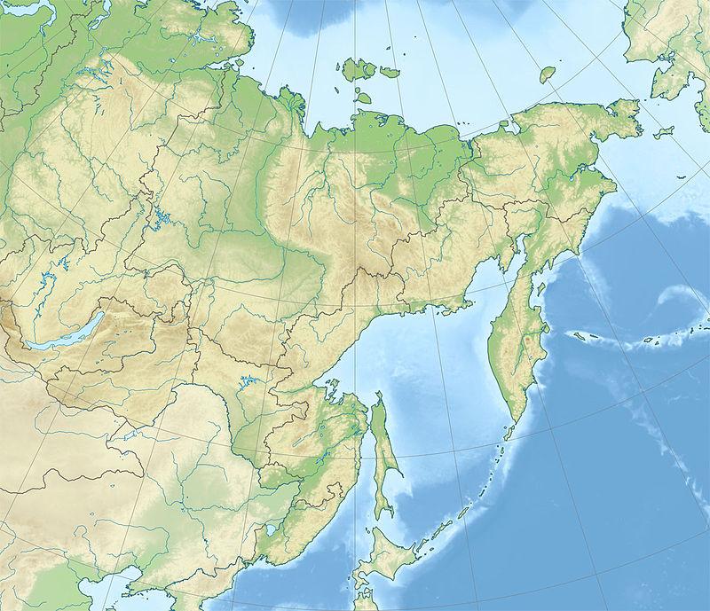 CráterdeBatagaika ubicada en Distrito Federal del Lejano Oriente