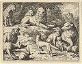 Renard is Accused by the Animals Before the Lion from Hendrick van Alcmar's Renard The Fox MET DP837710.jpg