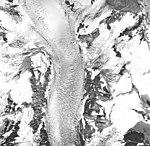 Rendu Glacier, tidewater glacier, hanging glacier, and firn line, September 17, 1966 (GLACIERS 5820).jpg