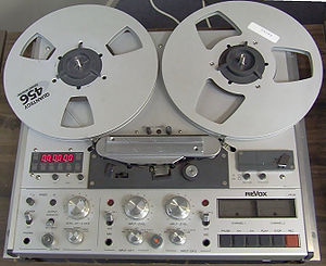 Revox - Revox PR99 Mk II, a 1/4 inch tape recorder. Produced from about 1985.