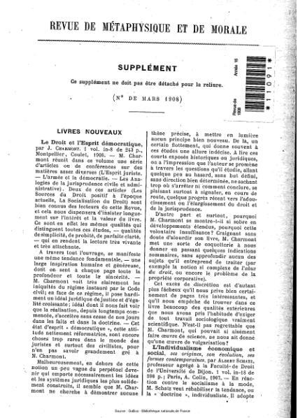File:Revue de métaphysique et de morale, supplément 2, 1908.djvu