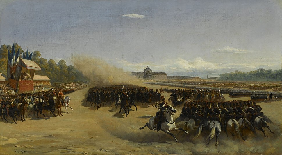 Revue passée au Champ-de-Mars en l'honneur d'Ibrahim Pacha, 25 mai 1846