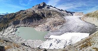 Rhône Glacier - Image: Rhonegletscher Sept 2018a
