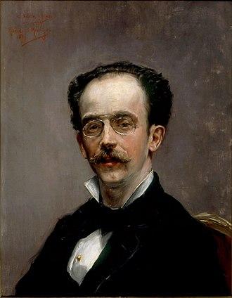 Ricardo de Madrazo - Ricardo de Madrazo, portrait by unknown, now in Prado Museum