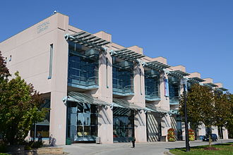 Richmond Hill, Ontario - Richmond Hill Public Library, the Central Library, one of four branches located in Richmond Hill.
