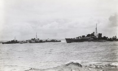 Right to left- HMS Nonpareil, HMS Offa and HMS Norseman at Scapa Flow-25-June 1942