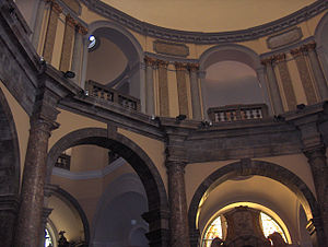 Rijeka Cathedral - Upper interior of the cathedral.