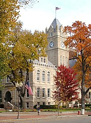 Courthouse built of limestone in Manhattan, Kansas