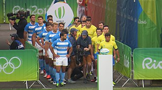 Argentina at the 2016 Summer Olympics - Players of Argentina vs Brazil match
