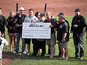 Calgary Vipers - Ripley's purchasing ten baseball bats acquired in the John Odom trade