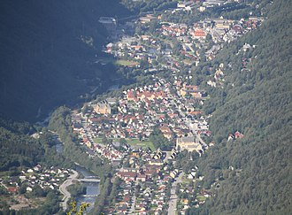Rjukan - Panorama of Rjukan town, 2015