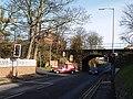 Road junction and railway bridge at Brotton - geograph.org.uk - 610639.jpg