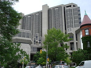 Public services in Toronto - The Robarts Library at the University of Toronto.