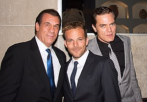 Michael Shannon - Shannon (far right) with Robert Davi and Stephen Dorff at the 2012 Toronto International Film Festival