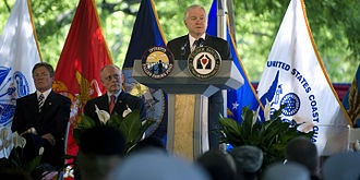 Intrepid Fallen Heroes Fund - Secretary of Defense Robert M. Gates at the groundbreaking ceremony for the National Intrepid Center of Excellence