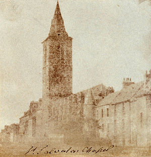 St Salvator's College, St Andrews - St. Salvator's College in 1843