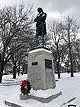 Robert Burns statue, Detroit, MI January, 2019.jpg